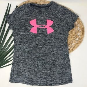 Under Armour Youth Girls Loose Heat Gear Top Small